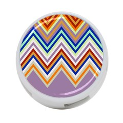 Chevron Wave Color Rainbow Triangle Waves Grey 4 Port Usb Hub (two Sides)