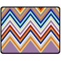 Chevron Wave Color Rainbow Triangle Waves Grey Fleece Blanket (medium)