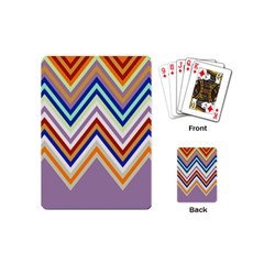 Chevron Wave Color Rainbow Triangle Waves Grey Playing Cards (mini)