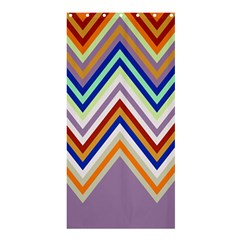 Chevron Wave Color Rainbow Triangle Waves Grey Shower Curtain 36  X 72  (stall)