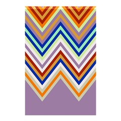 Chevron Wave Color Rainbow Triangle Waves Grey Shower Curtain 48  X 72  (small)