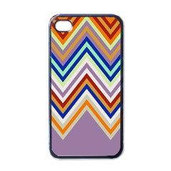 Chevron Wave Color Rainbow Triangle Waves Grey Apple Iphone 4 Case (black)