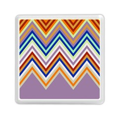 Chevron Wave Color Rainbow Triangle Waves Grey Memory Card Reader (square)