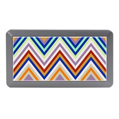 Chevron Wave Color Rainbow Triangle Waves Grey Memory Card Reader (mini)