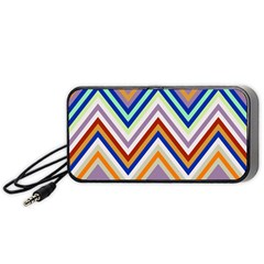 Chevron Wave Color Rainbow Triangle Waves Grey Portable Speaker (black)
