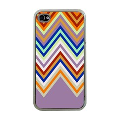 Chevron Wave Color Rainbow Triangle Waves Grey Apple Iphone 4 Case (clear)