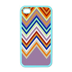 Chevron Wave Color Rainbow Triangle Waves Grey Apple Iphone 4 Case (color)