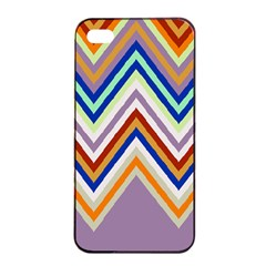 Chevron Wave Color Rainbow Triangle Waves Grey Apple Iphone 4/4s Seamless Case (black)