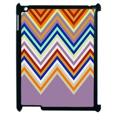 Chevron Wave Color Rainbow Triangle Waves Grey Apple Ipad 2 Case (black)