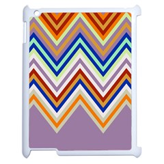 Chevron Wave Color Rainbow Triangle Waves Grey Apple Ipad 2 Case (white)