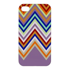 Chevron Wave Color Rainbow Triangle Waves Grey Apple Iphone 4/4s Hardshell Case