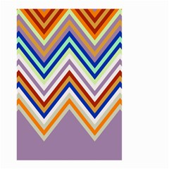 Chevron Wave Color Rainbow Triangle Waves Grey Small Garden Flag (two Sides)