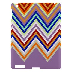 Chevron Wave Color Rainbow Triangle Waves Grey Apple Ipad 3/4 Hardshell Case
