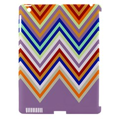 Chevron Wave Color Rainbow Triangle Waves Grey Apple Ipad 3/4 Hardshell Case (compatible With Smart Cover)