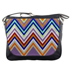 Chevron Wave Color Rainbow Triangle Waves Grey Messenger Bags