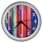 Texture Lines Vertical Lines Wall Clocks (Silver)  Front