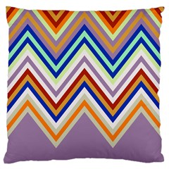 Chevron Wave Color Rainbow Triangle Waves Grey Large Cushion Case (two Sides)