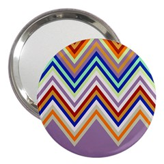 Chevron Wave Color Rainbow Triangle Waves Grey 3  Handbag Mirrors
