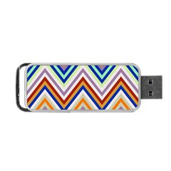 Chevron Wave Color Rainbow Triangle Waves Grey Portable Usb Flash (one Side)