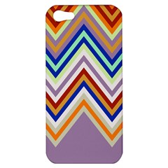Chevron Wave Color Rainbow Triangle Waves Grey Apple Iphone 5 Hardshell Case