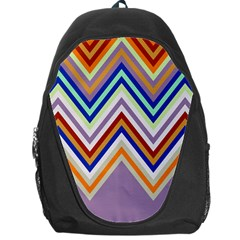 Chevron Wave Color Rainbow Triangle Waves Grey Backpack Bag by Alisyart