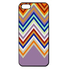 Chevron Wave Color Rainbow Triangle Waves Grey Apple Iphone 5 Seamless Case (black)