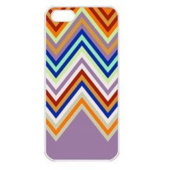 Chevron Wave Color Rainbow Triangle Waves Grey Apple Iphone 5 Seamless Case (white)