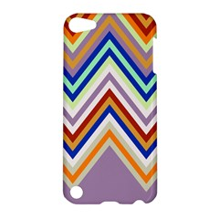Chevron Wave Color Rainbow Triangle Waves Grey Apple Ipod Touch 5 Hardshell Case