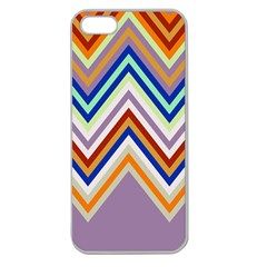 Chevron Wave Color Rainbow Triangle Waves Grey Apple Seamless Iphone 5 Case (clear)