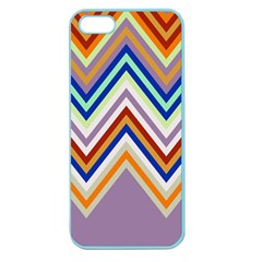 Chevron Wave Color Rainbow Triangle Waves Grey Apple Seamless Iphone 5 Case (color)