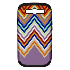 Chevron Wave Color Rainbow Triangle Waves Grey Samsung Galaxy S Iii Hardshell Case (pc+silicone)