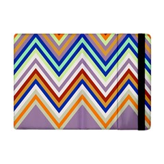 Chevron Wave Color Rainbow Triangle Waves Grey Apple Ipad Mini Flip Case