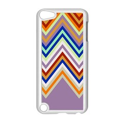 Chevron Wave Color Rainbow Triangle Waves Grey Apple Ipod Touch 5 Case (white)
