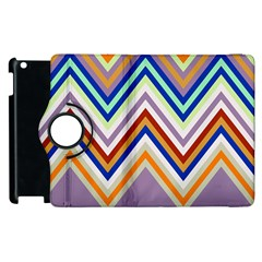 Chevron Wave Color Rainbow Triangle Waves Grey Apple Ipad 2 Flip 360 Case