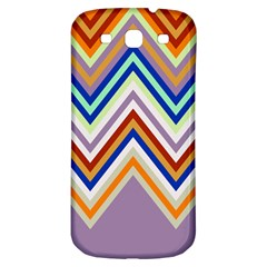 Chevron Wave Color Rainbow Triangle Waves Grey Samsung Galaxy S3 S Iii Classic Hardshell Back Case