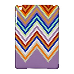 Chevron Wave Color Rainbow Triangle Waves Grey Apple Ipad Mini Hardshell Case (compatible With Smart Cover)