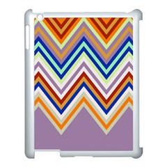 Chevron Wave Color Rainbow Triangle Waves Grey Apple Ipad 3/4 Case (white)
