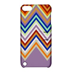 Chevron Wave Color Rainbow Triangle Waves Grey Apple Ipod Touch 5 Hardshell Case With Stand