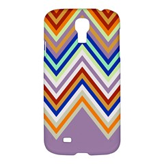 Chevron Wave Color Rainbow Triangle Waves Grey Samsung Galaxy S4 I9500/i9505 Hardshell Case