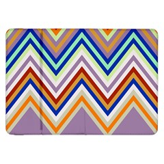 Chevron Wave Color Rainbow Triangle Waves Grey Samsung Galaxy Tab 8 9  P7300 Flip Case
