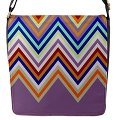 Chevron Wave Color Rainbow Triangle Waves Grey Flap Messenger Bag (s)