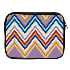 Chevron Wave Color Rainbow Triangle Waves Grey Apple Ipad 2/3/4 Zipper Cases