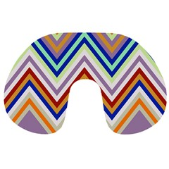 Chevron Wave Color Rainbow Triangle Waves Grey Travel Neck Pillows