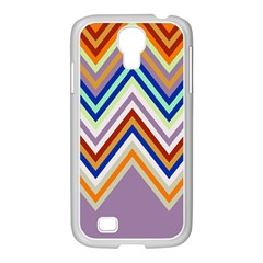 Chevron Wave Color Rainbow Triangle Waves Grey Samsung Galaxy S4 I9500/ I9505 Case (white)