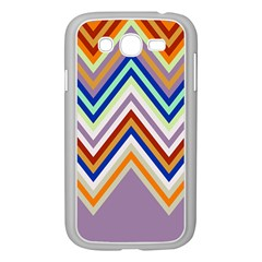 Chevron Wave Color Rainbow Triangle Waves Grey Samsung Galaxy Grand Duos I9082 Case (white)