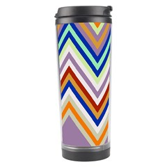 Chevron Wave Color Rainbow Triangle Waves Grey Travel Tumbler