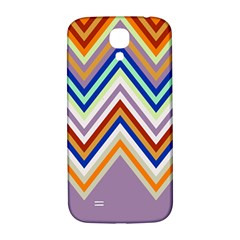 Chevron Wave Color Rainbow Triangle Waves Grey Samsung Galaxy S4 I9500/i9505  Hardshell Back Case by Alisyart