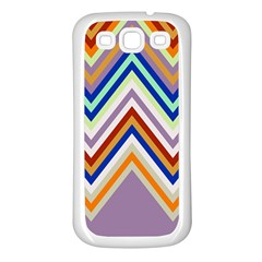 Chevron Wave Color Rainbow Triangle Waves Grey Samsung Galaxy S3 Back Case (white)