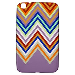Chevron Wave Color Rainbow Triangle Waves Grey Samsung Galaxy Tab 3 (8 ) T3100 Hardshell Case