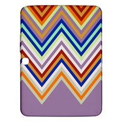 Chevron Wave Color Rainbow Triangle Waves Grey Samsung Galaxy Tab 3 (10 1 ) P5200 Hardshell Case